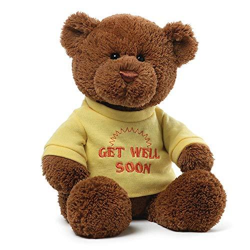 GUND T-Shirt Bear Get Well Soon Hospital Sick Present Plush, ()