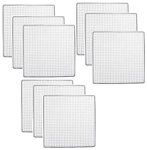 9 PACK - Excalibur Dehydrator Stainless Steel Tray Replacement UPGRADE Food Shelf Mesh (9)