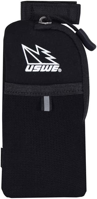 USWE Sports Unisex's Phone Chest Pocket, Black, Standard Size