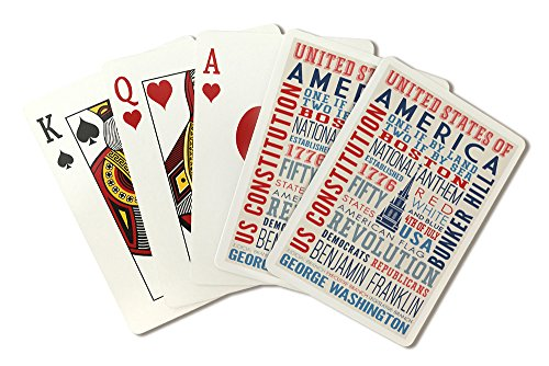 Boston, Massachusetts - Americana - Typography (Playing Card Deck - 52 Card Poker Size with Jokers)