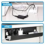 Yecaye 2 Pack Under Desk Cable Management