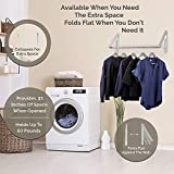 Stock Your Home Retractable Clothes Rack - Wall