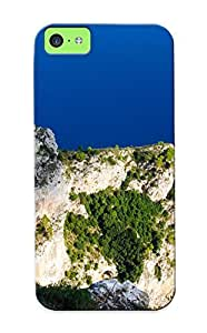 Goldenautumn Case Cover Protector Specially Made For Iphone 5c Mount Solaro Capri Italy Cliff Trees Rock Scenic View Vehicles Boats Sail Water Ocean Sea