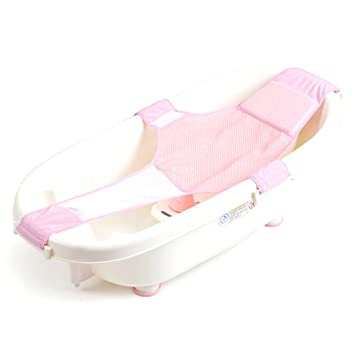 Well Baby Bath Seat Net Support Sling Shower Mesh Bathing Cradle Tub Hammock