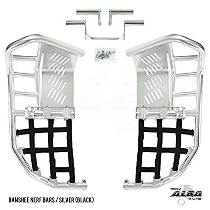 More Net Color Choices Available Yamaha Banshee YFZ 350 Propeg Nerf Bars Silver with Yellow Net 1987-2006