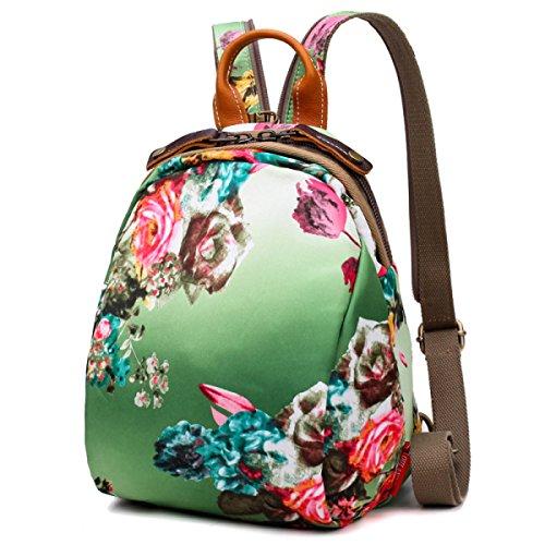 Bolso De Hombro De Las Señoras Conchas Paquete Femenino Oxford Bolso De Pecho Bolsa De Impresión De Múltiples Usos Mochila Floral