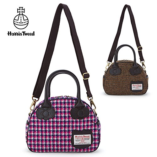 sanrio-hello-kitty-x-harris-tweed-2way-mini-boston-bag-brown-from-japan-new