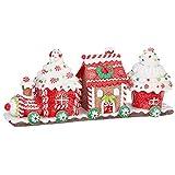 Raz 14' Claydough Gingerbread Train Christmas Figure 3916195
