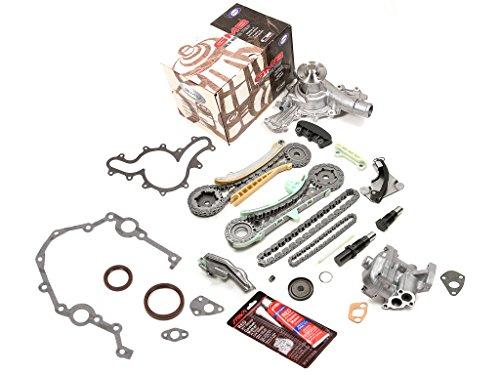 Evergreen TKTCS20700WOP Fits 97-10 Ford Explorer Ranger Mazda B4000 Mercury 4.0 245 SOHC Timing Chain Kit Timing Cover Gaskets Oil Pump GMB Water Pump