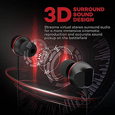 VAVA Gaming Earbuds MOOV 14 In-Ear Earphones 3D Surround Sound Wired Headphones with Mic for Video Games Movie (Aluminum Alloy, Frequency Division Technology, Battery-Free)