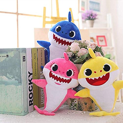 Baby Singing Shark Plush Toy,Adorable Cartoon Shark Soft Toys,Baby Singing  Interactive Plush Toy for English Song Children's Gift