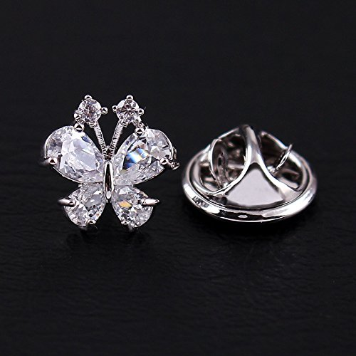 Compact crystal lady small suit collar button chest needle acupuncture horse 18K gold inlay zircon collar pin micro