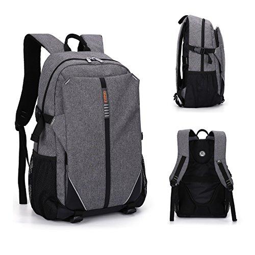 ShengTS 17 Zoll Notebooktasche Laptop Rucksack Beutel Schule Tasche Laptop-Tasche Rücksack Passend für bis zu 17-Zoll-Gaming Laptops für Dell, Asus, MSI (17 Zoll, Grau)