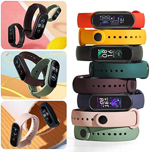 Watch Bands for Xiaomi Mi Band 5 2020,Classic Style Silicone Wristband Bracelet Watch Strap for Xiaomi Smart Band 5 (8 Pack) 3