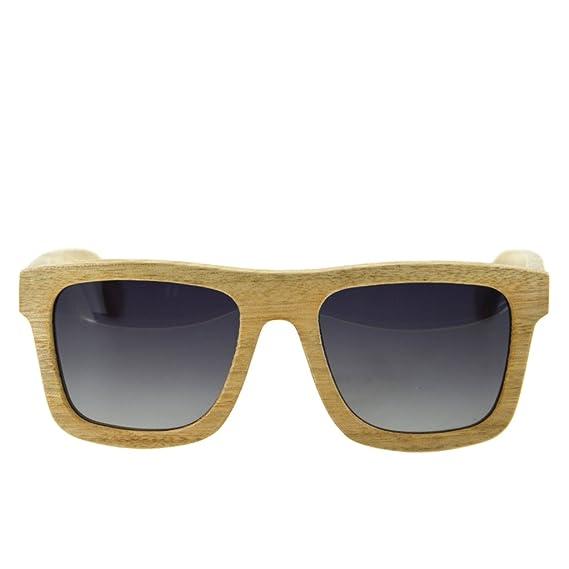 Ynport Crefreak Lunettes de soleil en bambou, rouge, cadre en bois, lunettes de soleil pour voyageur, homme, femme, femme, Orange