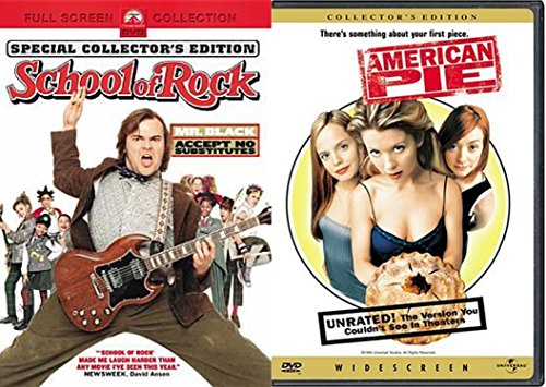 School of Rock (Full Screen Edition) & American Pie (Unrated Widescreen Edition) 2-DVD Bundle