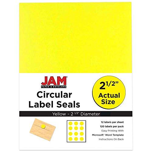 Round Seal Light - JAM Paper Round Circle Label Sticker Seals - 2 1/2