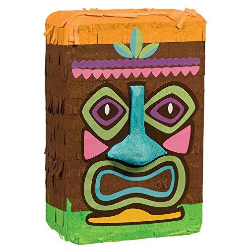 Amscan Party Supplies Mini Tiki Man Pinata, Multi -