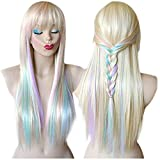kitchen appliance packages black friday 2017 Longlove Copper Red Hair Female Cartoon Character Halloween Masquerade Playing Game Big Wave Wig … (Silver)