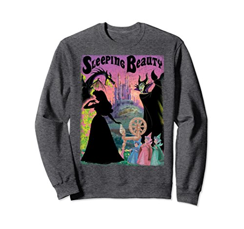 Unisex Disney Sleeping Beauty Aurora Maleficent Poster Sweatshirt Large Dark - T-shirt Sweatshirt Beauty