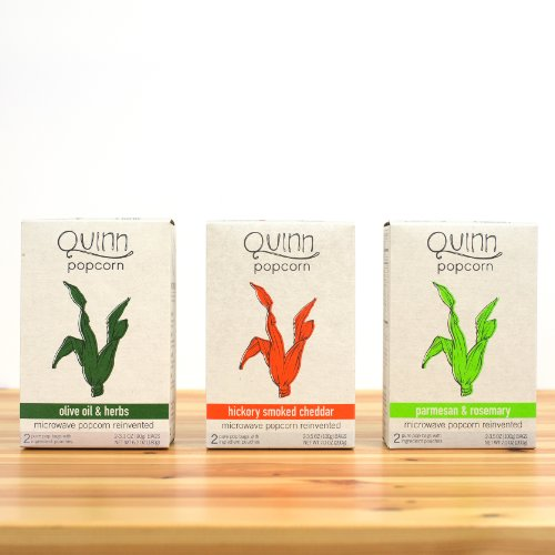 Best Price! Quinn Popcorn: Microwave Popcorn Reinvented {Variety Case: Hickory/Parmesan/Olive Oil} 3...