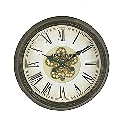 Woodland Imports 66978 Magnificently Styled Metal Wall Clock