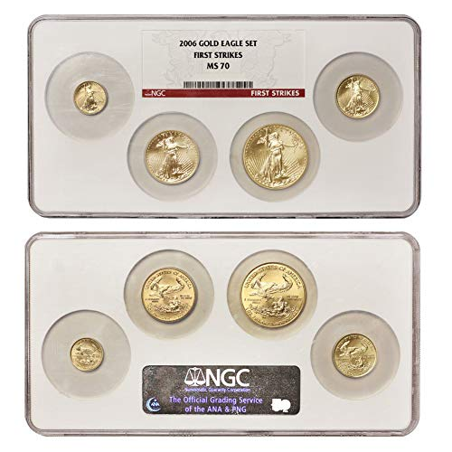 (2006 American Gold Eagle 4 Coin Set NGC MS70 First Strikes )