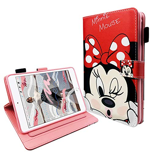 disneymini 2019 iPad Mini 5 Case Protective Folio PU Leather Smart Case with Magnetic Auto Sleep Wake Function for iPad Mini 1 2 3 4 5 (Minnie Mouse)