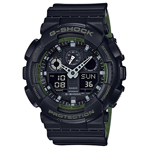 Casio G Shock Anti Magnetic Black GA100L 1A