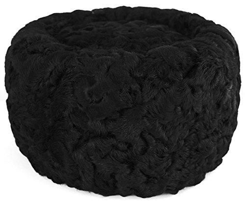 Astrakhan Fur Kuban Cossack Hat (X-Large, Black)
