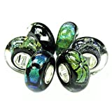 Sterling Silver Foiled European Style Glass Bead Charm Bundle