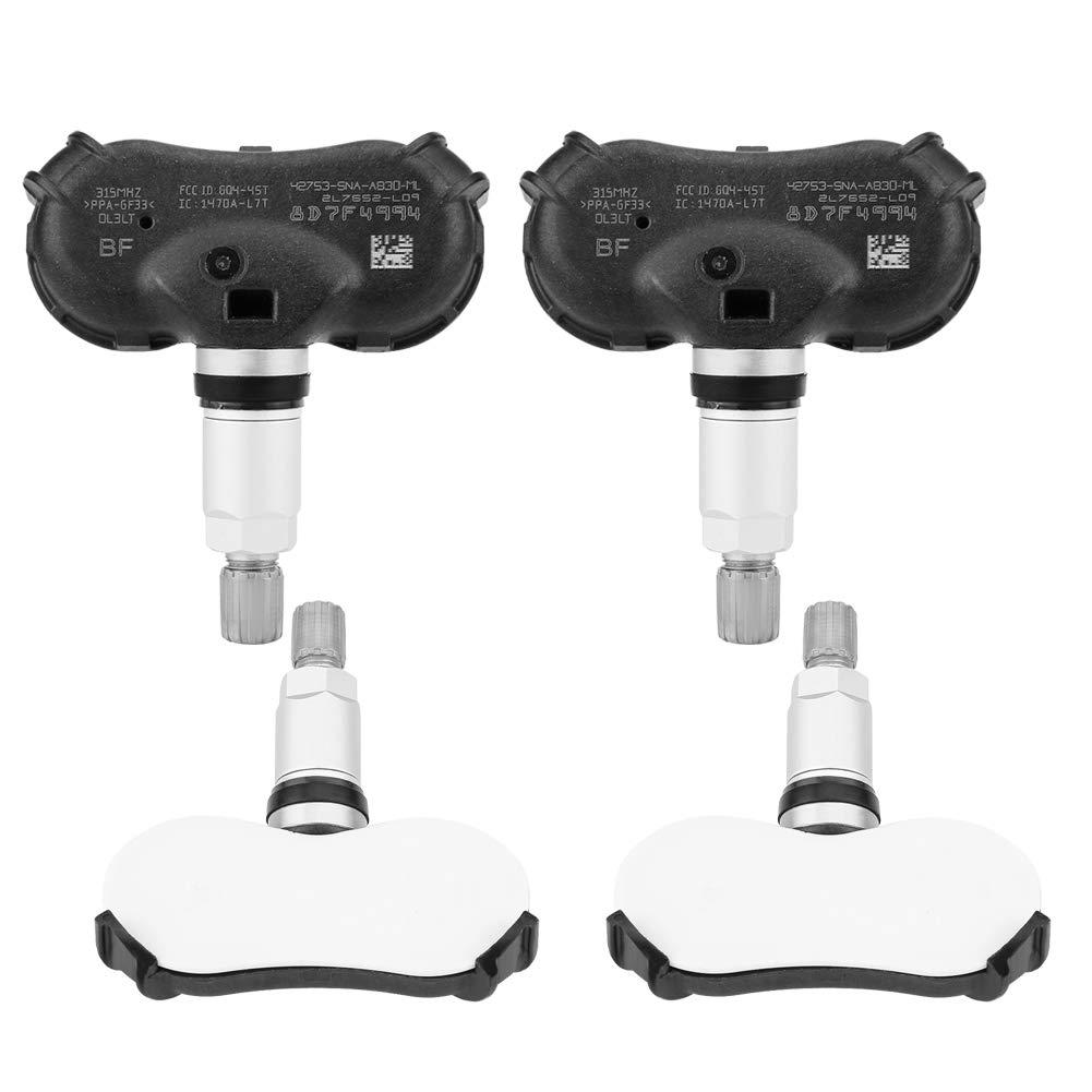 Keenso 4pcs Car TPMS Sensor Tire Pressure Monitoring System Tire Pressure Sensor for Honda CRZ Insight Odyssey Element Civic