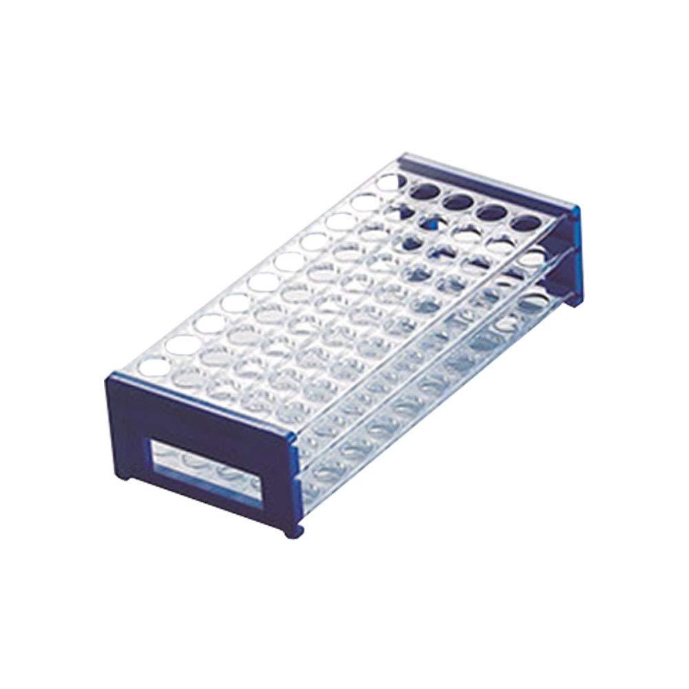 Teenitor 50 Hole Detachable Plastic Test Tube Rack for 13mm Test Tubes Test Tube Rack 2 Pack Green