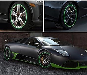 """SKS Distribution® 16 Pcs Verde tiras rueda pegatinas y Adhesivos 18 """"Inch reflectante"""