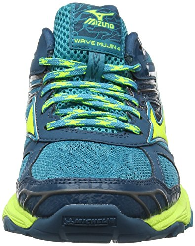 Mizuno Women's Wave Mujin WOS Running Shoes Multicolor (Tileblue/Safetyyellow/Bluecoral) cheap sale websites cheap price top quality SsrZc