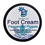 Peppermint & Eucalyptus Foot Cream With Menthol Too, By Diva Stuff,4.5 oz