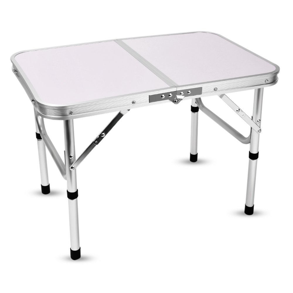 Aluminum Folding Camping Table Laptop Bed Desk Adjustable Height 60 x 40.5 x 24/41.5cm by DOVOK (Image #1)