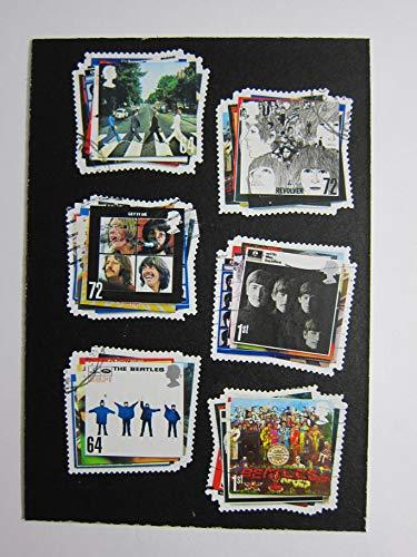 The Beatles Albums Framed Postage Stamp Art - 3.5 x 5