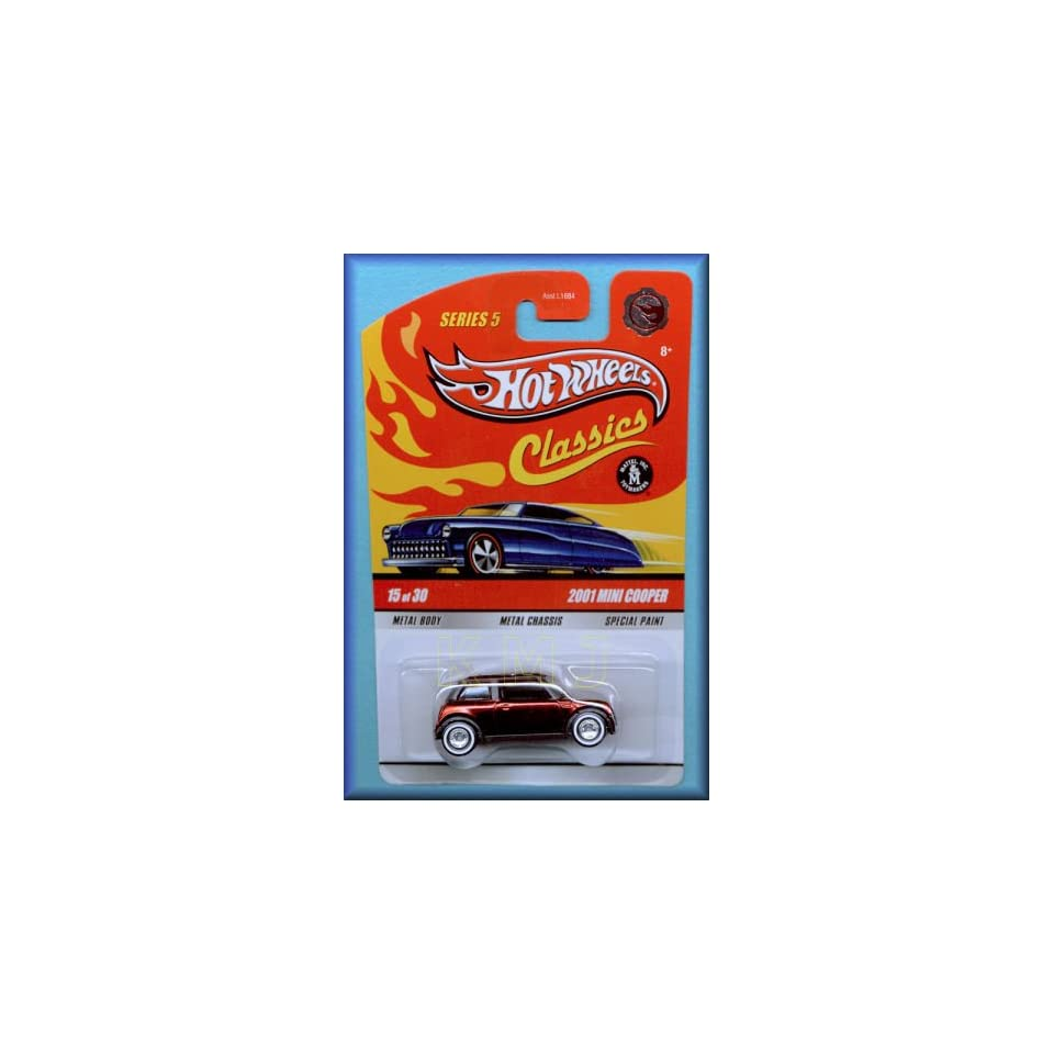 Hot Wheels Classics Candy Red 2001 Mini Cooper Red Line 15 of 30 Series 5