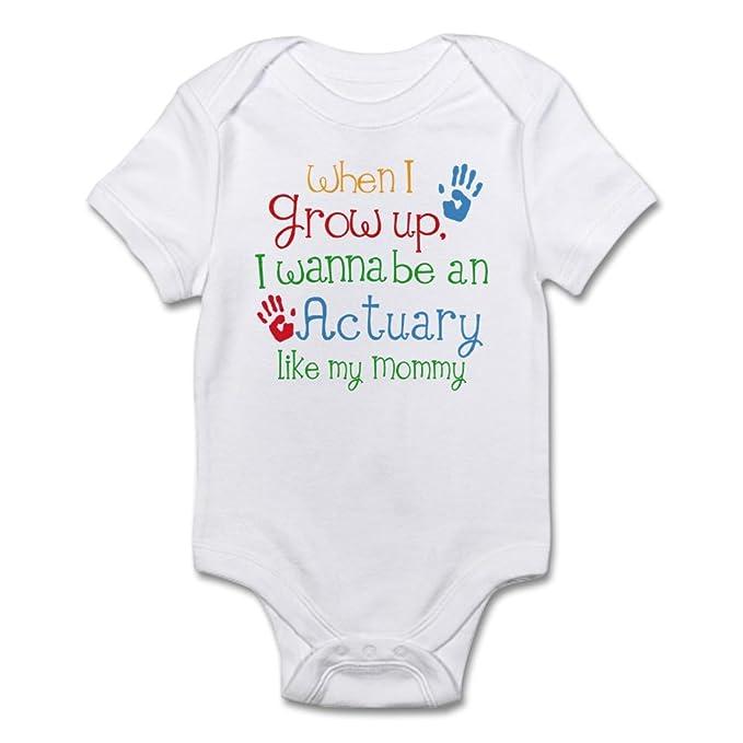 4ada0fb58497 CafePress Actuary Like Mommy Infant Bodysuit Cute Infant Bodysuit Baby  Romper Cloud White