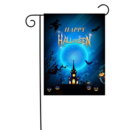 1PC Halloween Polyester Garden Flags Angry Pumpkin Yard Flag for Home Decoration