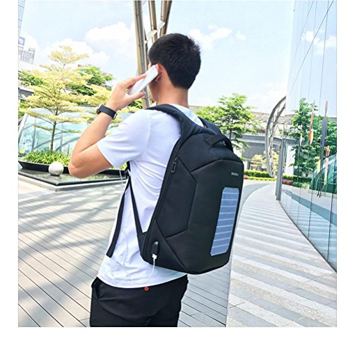 Travel Port Plyy Leisure Inch Charging Backpack Shoulders Solar With Usb Student Energy Charge Blue Bag Package School 16 Laptop zqzTwrS1