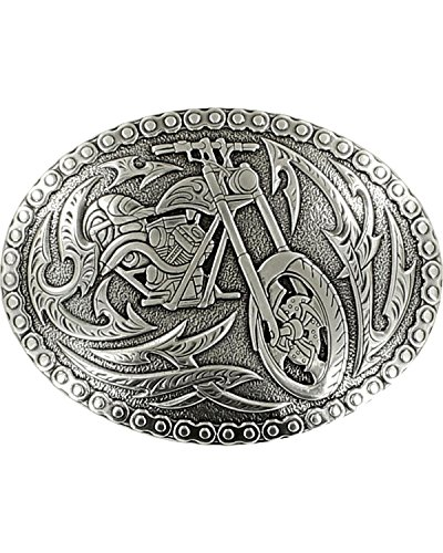 Crumrine Men's Vintage Chopper Belt Buckle Silver One Size - Chopper Buckle