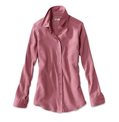 40d19cf9 Orvis Long-Sleeved Everyday Silk Shirt at Amazon Women's Clothing store:
