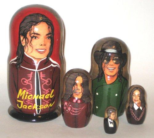 Michael Jackson Russian Nesting Doll Hand Made 5 Pcs / 6 ...