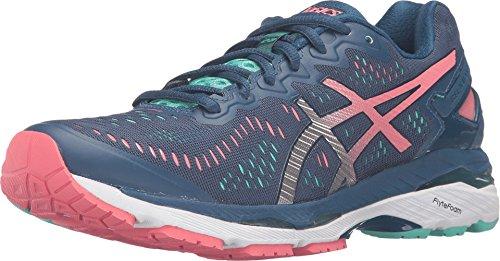 ASICS Women's Gel-Kayano 23 Running Shoe, Poseidon/Silver/Cockatoo, 8.5 M US