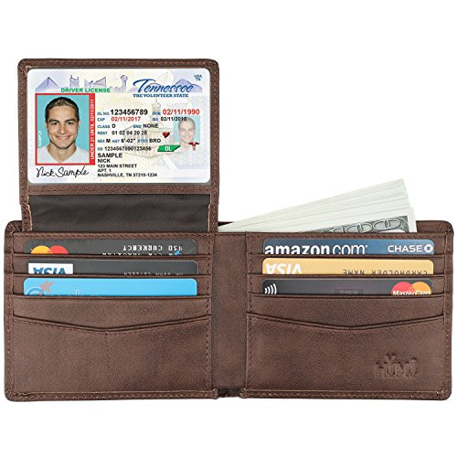 Wallet for Men-Genuine Leather RFID Blocking Bifold Stylish Wallet With 2 ID Window 4