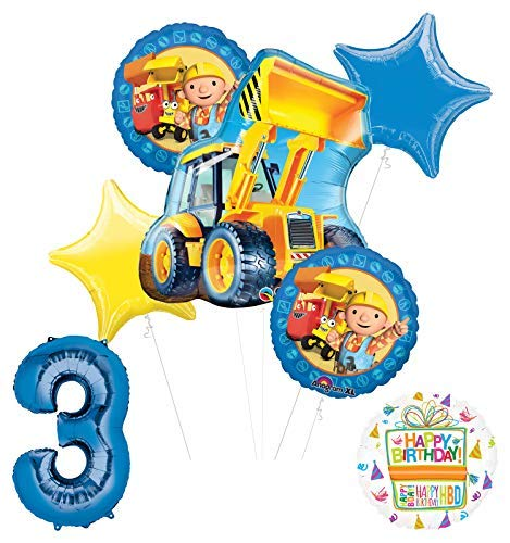 - Mayflower Products Bob The Builder Construction Party Supplies 3rd Birthday Balloon Bouquet Decorations
