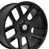 03 dodge ram 1500 rims - 22x10 Wheel Fits Dodge/Ram - SRT Style Black Rim, Hollander Number 2223