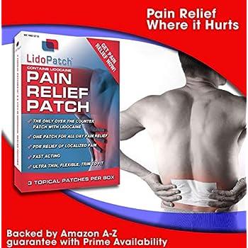 Lidocaine Patch, LidoPatch - Maximum 12 Hour Numbing Pain Relief (3 Count)